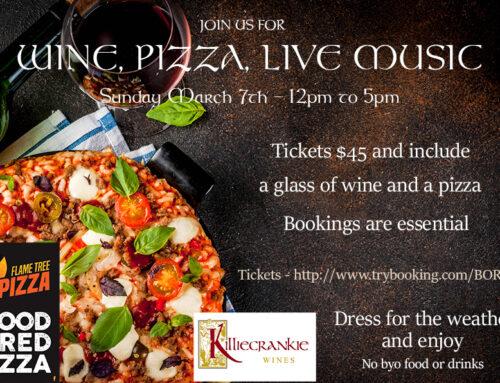 Wine, Pizza & Live Music – Sunday 7 March 2021